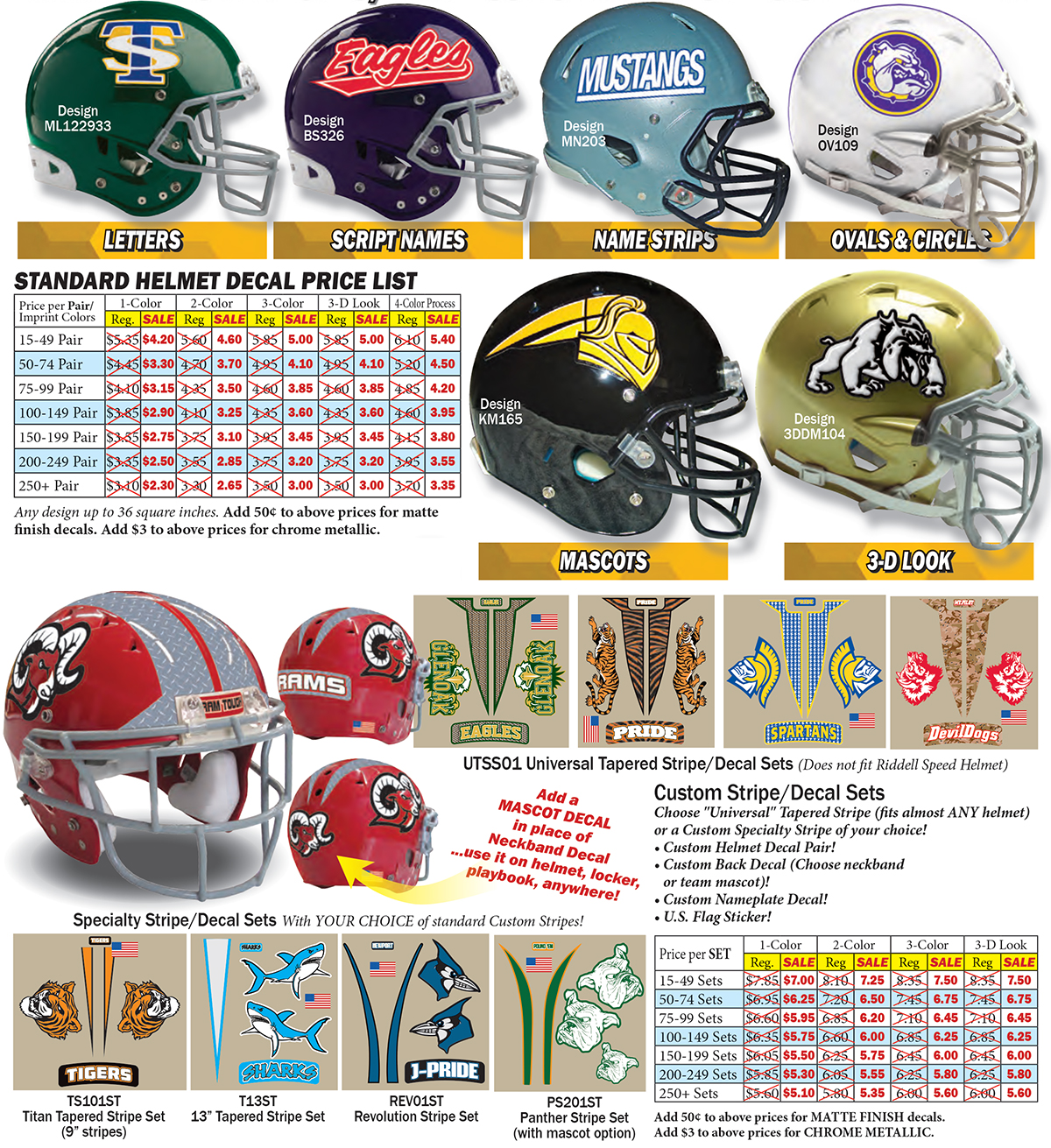 American Football Gridiron Decals 3