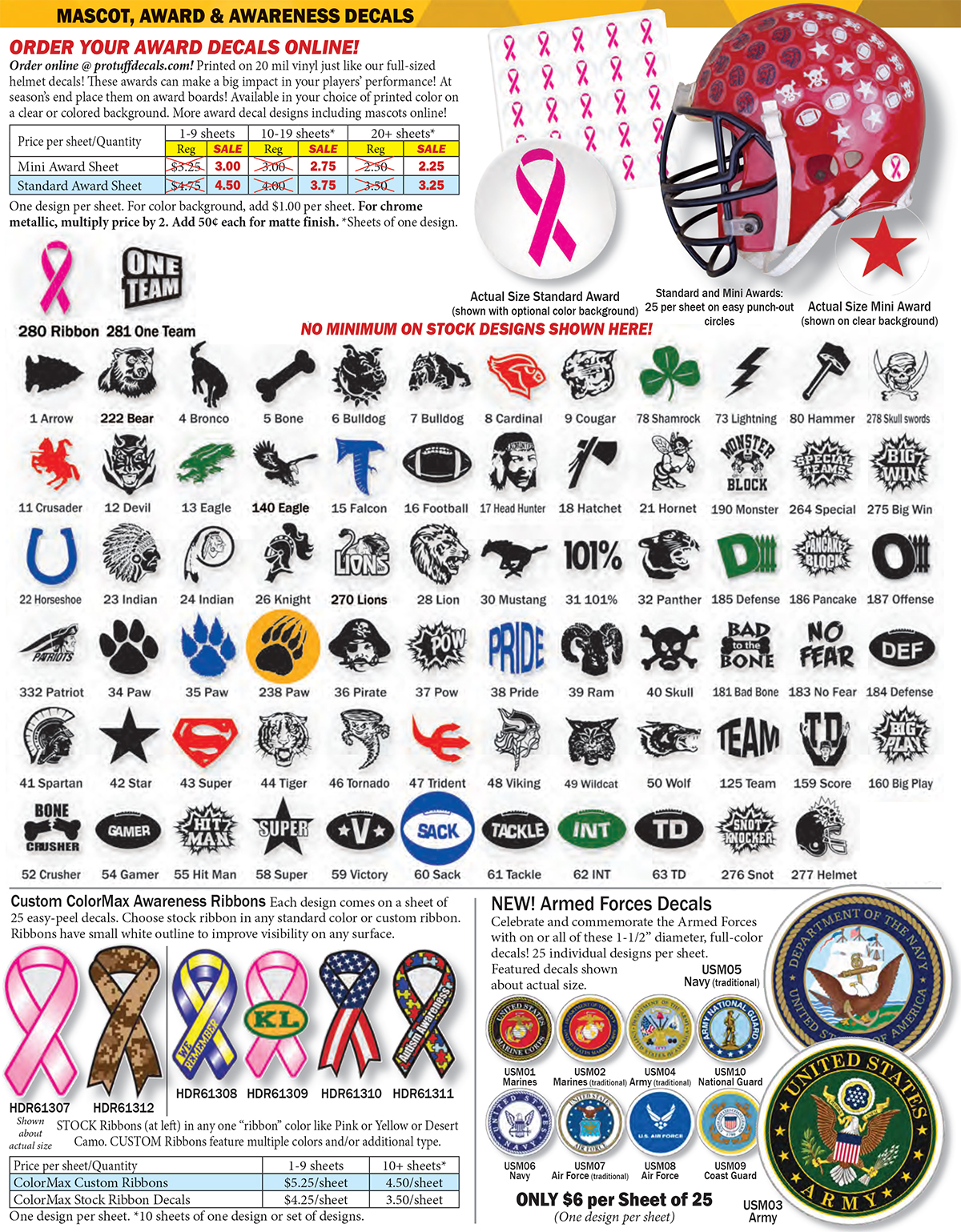 American Football Gridiron Helmet Decals 5